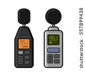 sound level meter set on white... | Shutterstock . vector #557899438