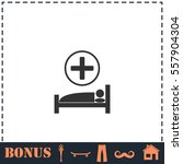 hospital icon flat. simple... | Shutterstock .eps vector #557904304