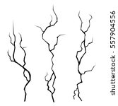wall cracks set on white... | Shutterstock . vector #557904556