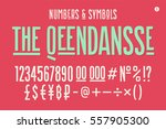 hand drawn condensed alphabet ... | Shutterstock .eps vector #557905300