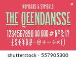 hand drawn condensed alphabet ... | Shutterstock .eps vector #557905300