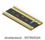 car race track isometric...   Shutterstock .eps vector #557905324