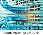 ethernet cable on network... | Shutterstock . vector #557910970