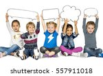 children smiling happiness... | Shutterstock . vector #557911018