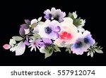 flowers watercolor illustration.... | Shutterstock . vector #557912074