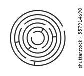 circle ring maze on white... | Shutterstock . vector #557914690