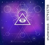eye of providence. all seeing... | Shutterstock .eps vector #557915758