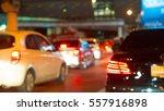 car light and traffic jam light ... | Shutterstock . vector #557916898