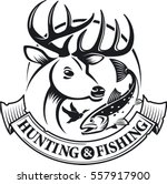 hunting and fishing vector...   Shutterstock .eps vector #557917900