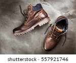 pair of new boots | Shutterstock . vector #557921746