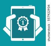 best tablet awards   vector... | Shutterstock .eps vector #557922934