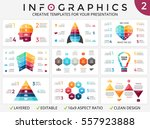 vector arrows infographic ... | Shutterstock .eps vector #557923888