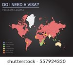 visas information for kingdom... | Shutterstock .eps vector #557924320
