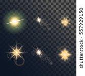 vector set of light flare or...   Shutterstock .eps vector #557929150