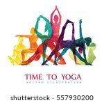 yoga fitness concept. vector... | Shutterstock .eps vector #557930200