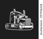 truck white on black background | Shutterstock .eps vector #557936218