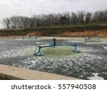 surface aerators for wastewater ... | Shutterstock . vector #557940508