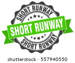 short runway. stamp. sticker.... | Shutterstock .eps vector #557940550