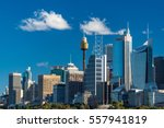 sydney skyline with sydney... | Shutterstock . vector #557941819