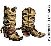 Old Gringo Cowboy Boots Vector...