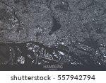 hamburg map  satellite view ... | Shutterstock . vector #557942794