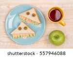 funny sandwiches for kids in... | Shutterstock . vector #557946088