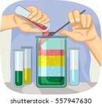illustration of a scientific... | Shutterstock .eps vector #557947630