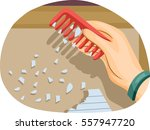 illustration of a scientific... | Shutterstock .eps vector #557947720