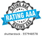 rating aaa. stamp. sticker.... | Shutterstock .eps vector #557948578
