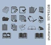 document icons | Shutterstock .eps vector #557953108
