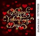 golden lettering happy...   Shutterstock . vector #557955028