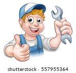 a mechanic or plumber handyman... | Shutterstock .eps vector #557955364