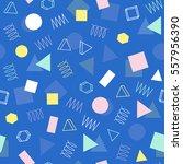 retro memphis geometric line... | Shutterstock .eps vector #557956390