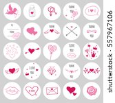 set of round stickers for... | Shutterstock .eps vector #557967106