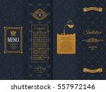 vector set of design elements... | Shutterstock .eps vector #557972146