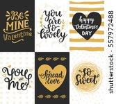 happy valentines day typography ... | Shutterstock .eps vector #557972488