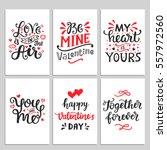 happy valentines day typography ... | Shutterstock .eps vector #557972560