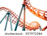 roller coaster isolated on... | Shutterstock . vector #557972584