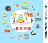 car dealership firm... | Shutterstock .eps vector #557973784