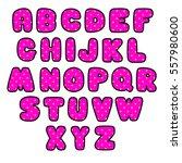 pink letters | Shutterstock .eps vector #557980600