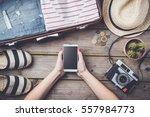 travel preparations concept...   Shutterstock . vector #557984773