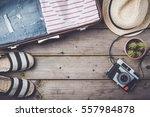 travel preparations concept...   Shutterstock . vector #557984878