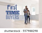 first time buyers couple in...   Shutterstock . vector #557988298