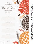 vector card design with ink... | Shutterstock .eps vector #557993653