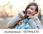 young blonde happy smiling... | Shutterstock . vector #557996170