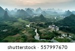 the yulong river source ping... | Shutterstock . vector #557997670