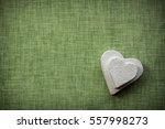 heart made of paper mache on a... | Shutterstock . vector #557998273