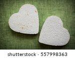 heart made of paper mache on a... | Shutterstock . vector #557998363