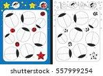 preschool worksheet for... | Shutterstock .eps vector #557999254