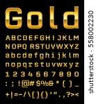 gold letter set  | Shutterstock .eps vector #558002230